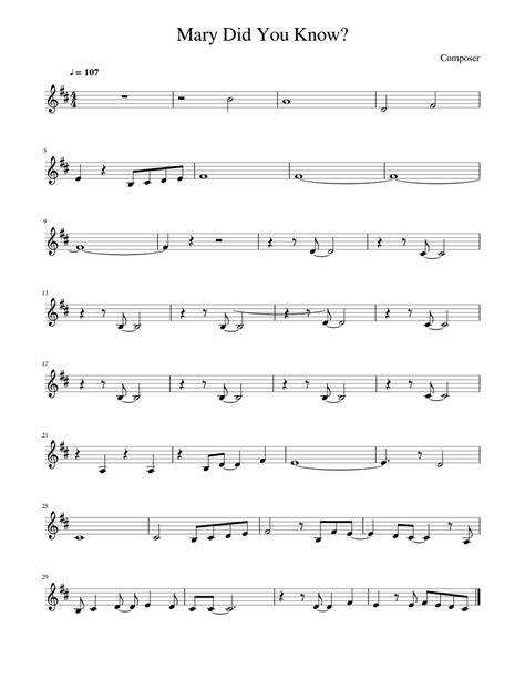 Wished you could play your favorite christmas carols easily and without piano sheets? Mary Did You Know? Sheet music for Piano | Download free in PDF or MIDI | Musescore.com