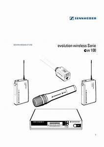 Notice Sennheiser Evolution Wireless Ew 100