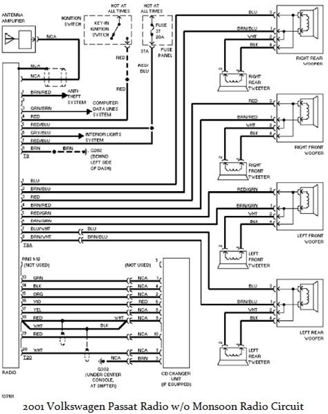 Volkswagen Passat Radio Wiring Diagram Audio