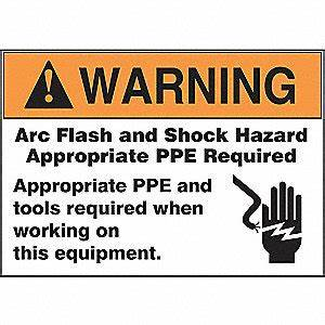 accuform label3 1 2x5warning arc flashpk100 36a951 With arc flash labels explained