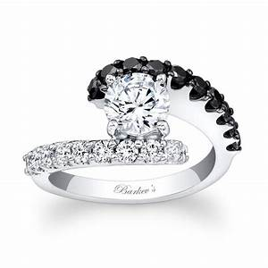 Barkev39s black diamond engagement ring 7737lbk for Black wedding rings with diamonds