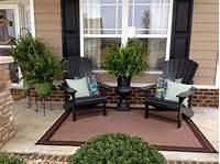 patio decor ideas Small Front Porch Furniture Ideas