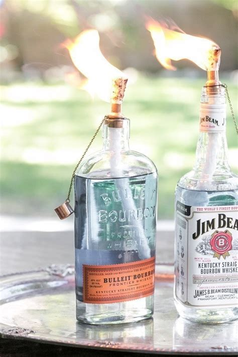 diy tiki torch bottles     lantern