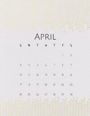 april calendars designs borders