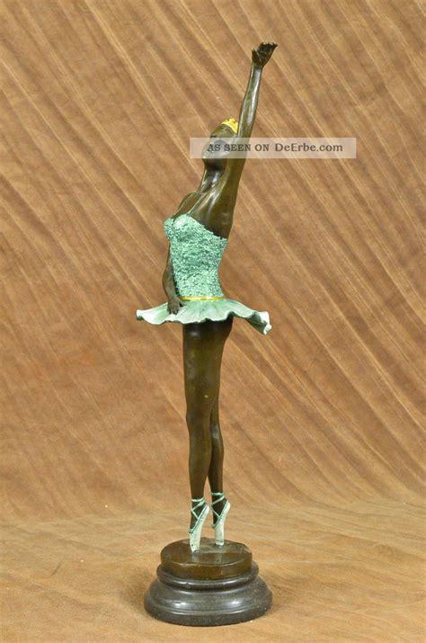 ballerina taenzerin figur signiert bronze statue skulptur dekor