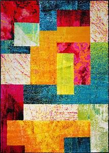 Modern rug contemporary area rugs multi geometric swirls for Modern carpet pattern red