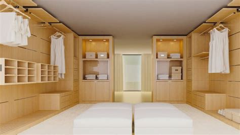 awesome walk in closet design ideas with honey wood closet