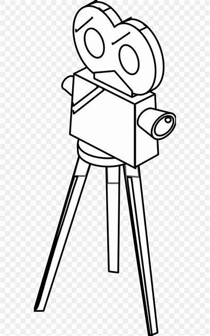 Camera Drawing Coloring Clip Cartoon