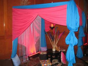 Arabian Nights or Bollywood Themed Event: Tent Decors