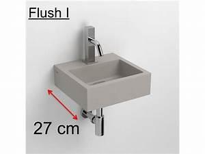 Höhe Abfluss Waschbecken : badm bel waschbecken handwaschbecken lave mains handwaschbecken beton grau 27 flush 1 clou ~ Orissabook.com Haus und Dekorationen