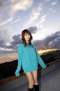 Mai Nishida In Blue Sweater
