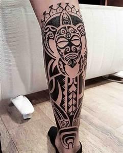 Tatouage Mollet Tribal : 1001 id es tatouage mollet 50 mod les qui ne courent pas les rues ~ Farleysfitness.com Idées de Décoration