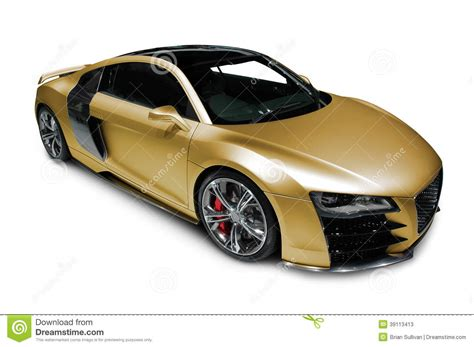 Audi R8 Sports Car On White Stock Image