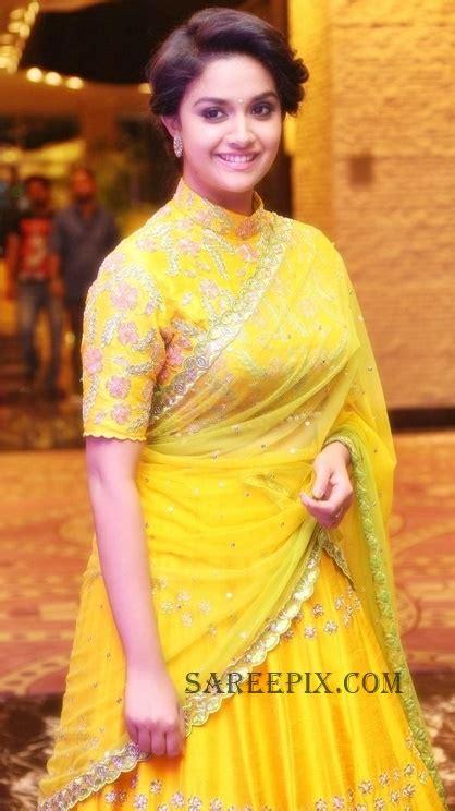 Keerthi Suresh Saree Half Pictures To Pin On Pinterest
