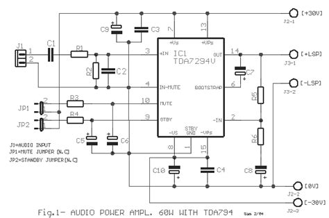 Tda Based Power Amplifier For Audio Circuits Eeweb