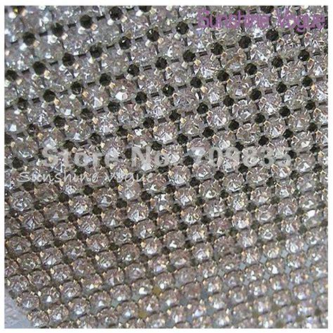 24 row handmade rhinestone mesh trimming with ss18 crystal