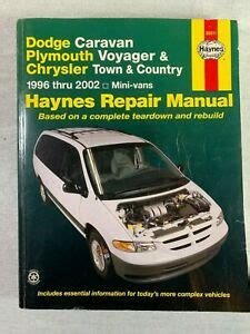old cars and repair manuals free 1996 plymouth neon electronic toll collection haynes auto repair manual dodge caravan plymouth voyager and chrysler 1996 2002 ebay