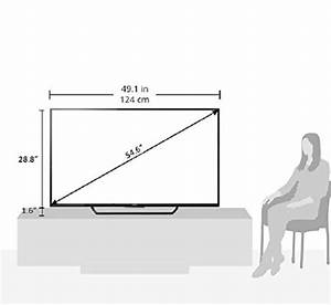 Dimension Tv 65 Pouces : sony xbr55x810c 55 inch 4k ultra hd smart led tv 2015 ~ Melissatoandfro.com Idées de Décoration