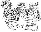Fruit Coloring Basket Fruits Drawing Pages Colour Printable sketch template