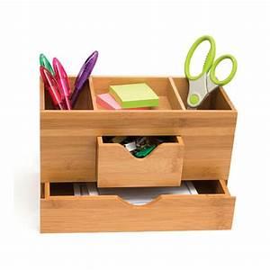 Bamboo Three-Tier Desk Organizer in Desktop Organizers