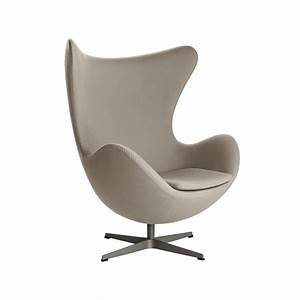 Fauteuil Pivotant Design : fauteuil pivotant egg chair tissu beige fritz hansen the blog d co ~ Teatrodelosmanantiales.com Idées de Décoration