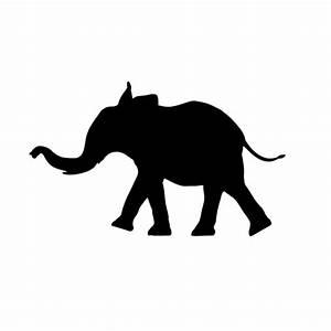 Cute Baby Elephant Silhouette