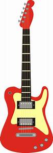 Red Guitar Clipart - ClipArt Best