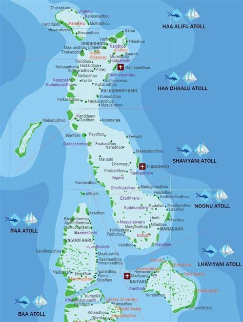 map  maldives  surroundings sun resorts hotels