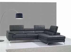 a973 sofa sectional in slate grey premium leather by jm With slate grey sectional sofa