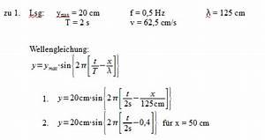 Frequenz Berechnen Physik : patrick 39 s physikseite physikaufgaben mit l sungen physik ~ Themetempest.com Abrechnung