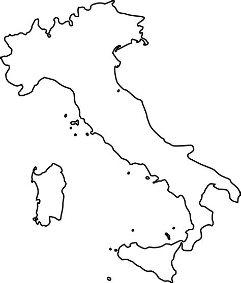 map  italy coloring page coloring home