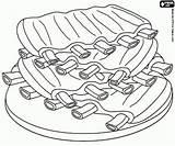 Colorear Cerdo Barbacoa Costillas Barbecue Pintar Carne Pork Grill Coloring Bbq Dibujos Imprimir żeberka Wieprzowe Juegos Printable Kolorowanki Comida Spareribs sketch template