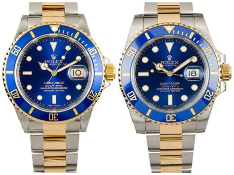 rolex submariner two tone steel yellow gold blue 3 blue submariners that will your mind bob 39 s watches