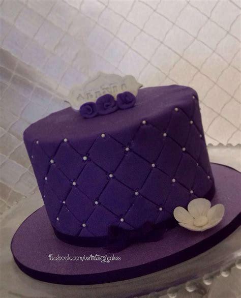 Purple Birthday Cake Ventidesigncakes
