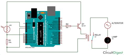 Arduino Light Sensor Circuit Using Ldr