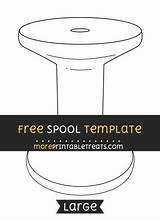Spool Template Templates Crafts Moreprintabletreats sketch template