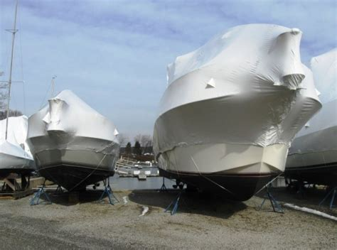Boat Shrink Wrap Or Cover by Local Marinas Use Shrink Wrap To Cover Boats Stored