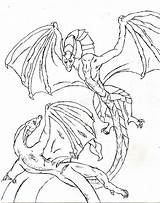 Coloring Dragon Pages Detailed sketch template
