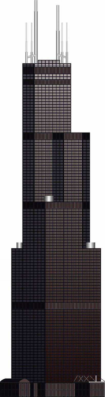 Tower Willis Sears Clipart Drawing Building Sear