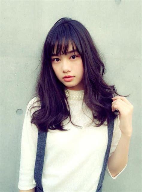 hairstyle    spring asian   bangs