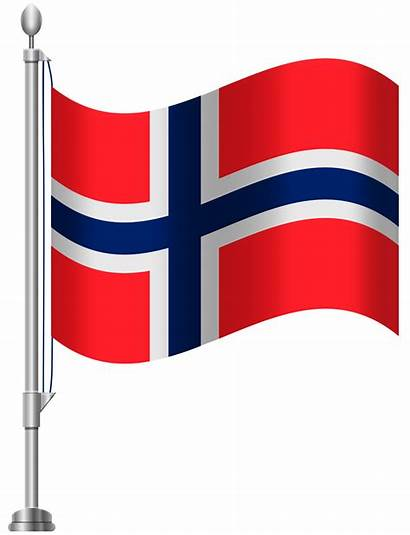 Norway Flag Clip Clipart Norge Flags Bendera