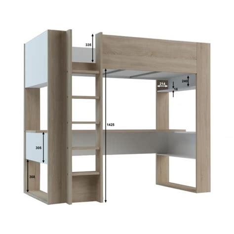 lit mezzanine bureau pas cher lit mezzanine noah avec bureau et rangements intégrés