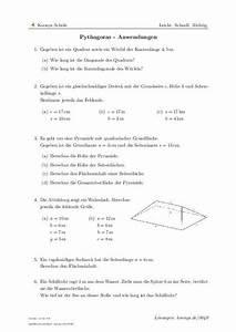 Scheitelpunkt Berechnen Aufgaben Mit Lösungen : pythagoras anwendungen aufgaben mit l sungen und videoerkl rungen 0040 klasse 9 ~ Themetempest.com Abrechnung