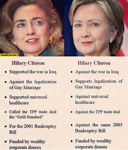 Hillary Clinton political views in the past vs now ...