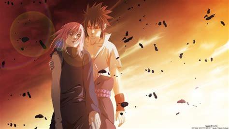 uchiha sasuke haruno sakura couple sunset sharingan