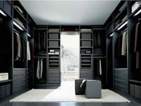 ideas luxury modern walk in closet with black theme