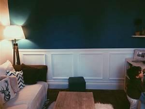 Trompe L Oeil Mur : trompe l 39 il caissons bois mureaux mur bleu canard diy en 2019 deco chambre bleu sous ~ Dode.kayakingforconservation.com Idées de Décoration