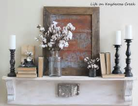 Fixer Upper Inspired Metal Wall Decor Life Kaydeross Creek Interior Combines With The Fireplace Mantle Decor