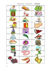 English Food Vocabulary Worksheet