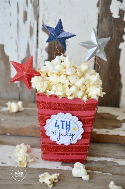 popcorn box templatefourth  july party  idea room